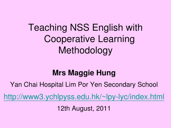 teaching nss english with cooperative learning methodology n.
