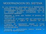 modernizacion del sistema