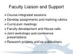 faculty liaison and support