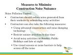 measures to minimise construction noise nuisance