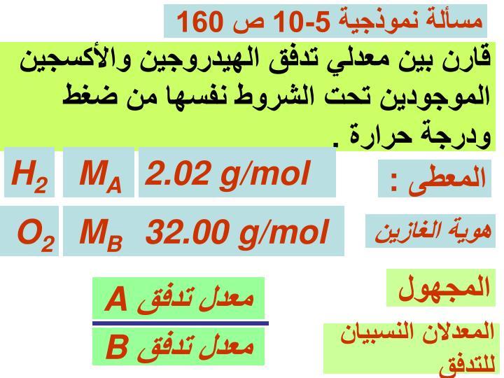 مسألة نموذجية 5-10 ص 160