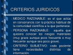 criterios juridicos