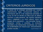 criterios juridicos1