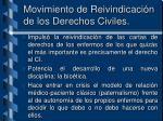 movimiento de reivindicaci n de los derechos civiles
