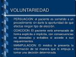 voluntariedad