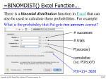 binomdist excel function