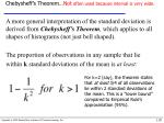 chebysheff s theorem not often used because interval is very wide