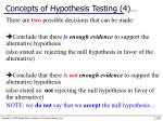 concepts of hypothesis testing 4