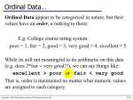 ordinal data
