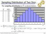 sampling distribution of two dice1