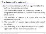 the poisson experiment