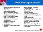committed organizations