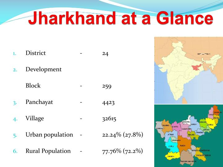 jharkhand at a glance n.