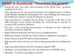 msme in jharkhand incentives for growth