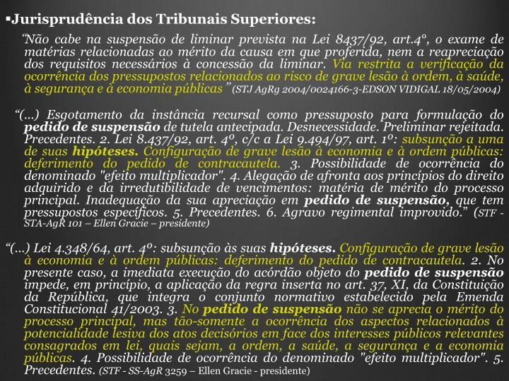 Jurisprudência dos Tribunais Superiores: