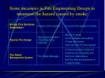 some measures in fire engineering design to minimize the hazard caused by smoke