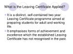 what is the leaving certificate applied