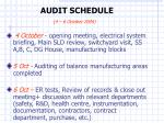audit schedule 4 6 october 2004