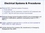 electrical systems procedures