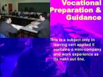 vocational preparation guidance