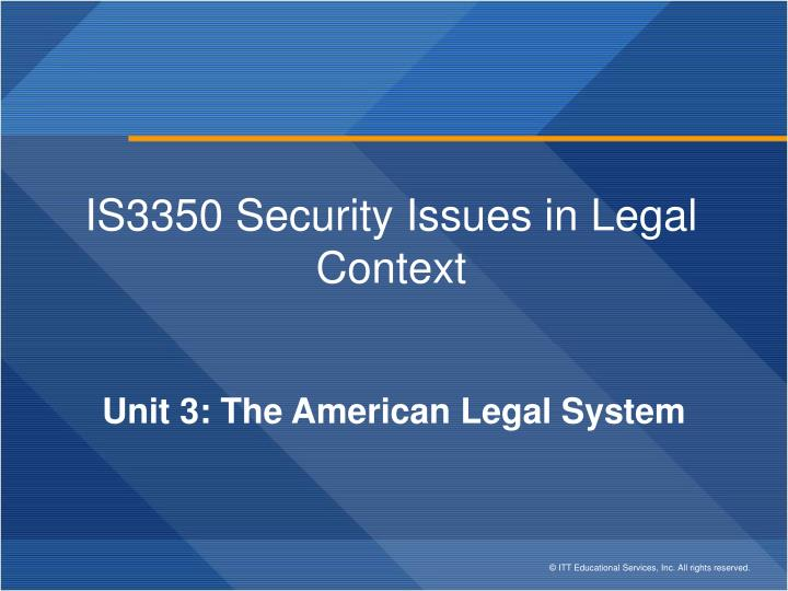 is3350 security issues in legal context n.