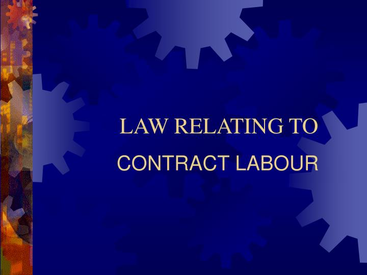 contract labour n.