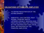obligations of principal employer