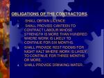 obligations of the contractors