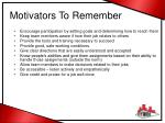motivators to remember