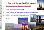 the lhc computing environment