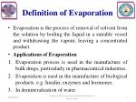 definition of evaporation