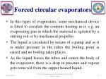 forced circular evaporators1