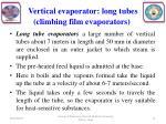 vertical evaporator long tubes climbing film evaporators1