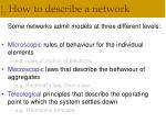how to describe a network