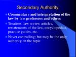 secondary authority