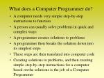 what does a computer programmer do