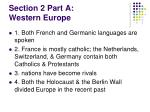 section 2 part a western europe