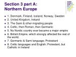 section 3 part a northern europe
