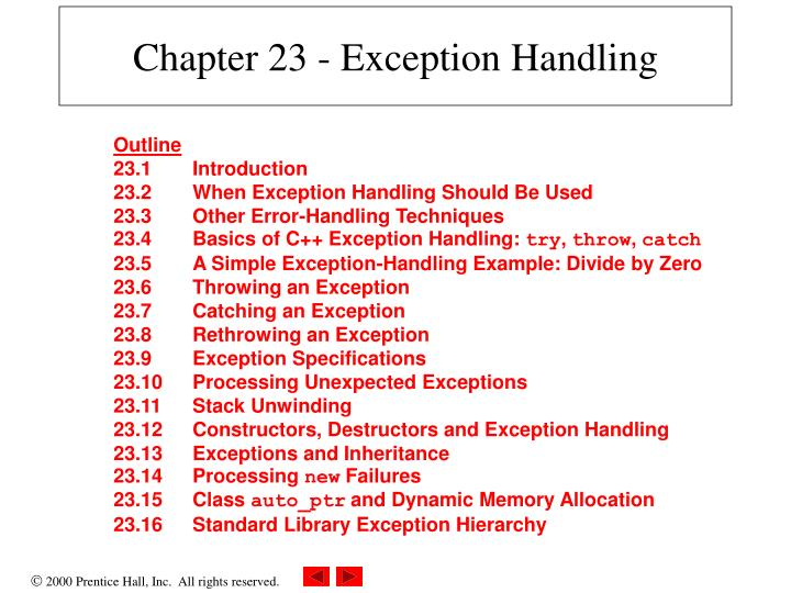 chapter 23 exception handling n.
