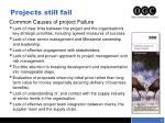 projects still fail