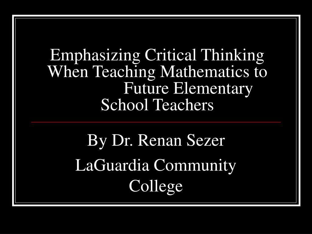 critical thinking elementary school