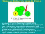 como se destruye la capa de ozono