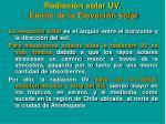 radiaci n solar uv efecto de la elevaci n solar