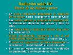 radiaci n solar uv efecto de las nubes y polvo