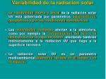 variabilidad de la radiacion solar