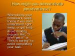 how might you demonstrate perseverance2
