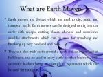 what are earth movers