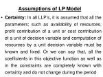 assumptions of lp model1