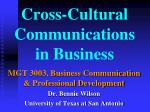 cross cultural communications in business1