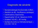diagnostic de s v rit